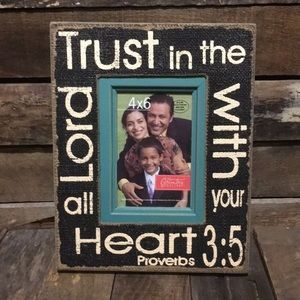 ⭐️Christian Bible Proverbs Photo Picture Frame